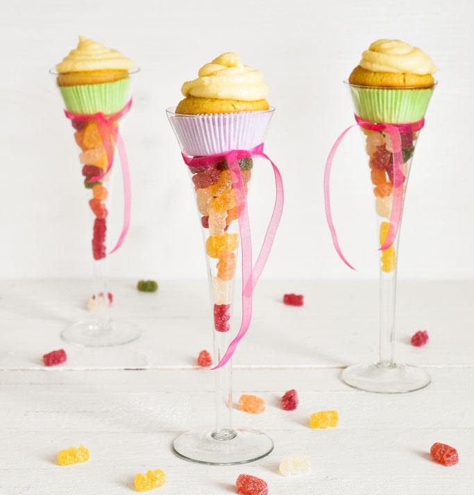Muffins in Schultüten-Look, statt Schultüten-Torte, vegan möglich, Thermomix