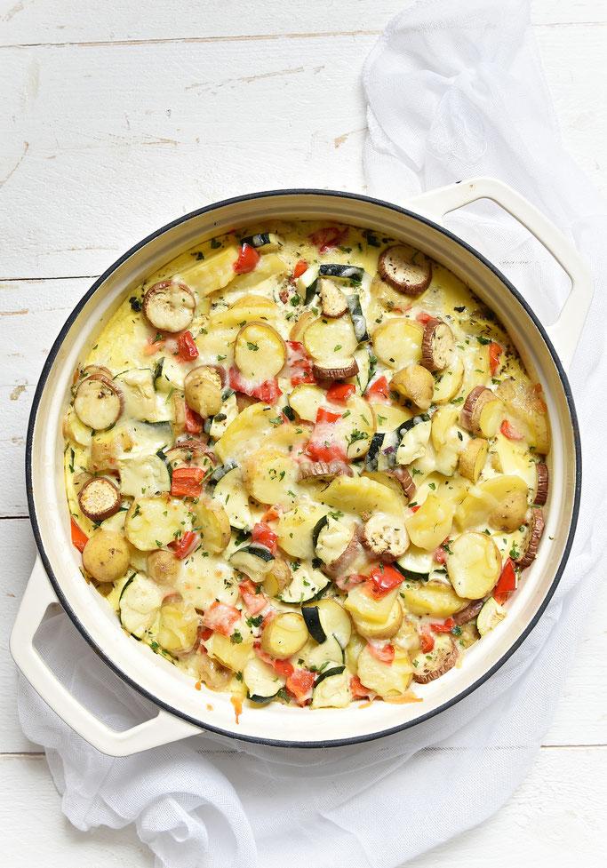 Kartoffel-Gemüse-Auflauf ohne Sahne, Thermomix