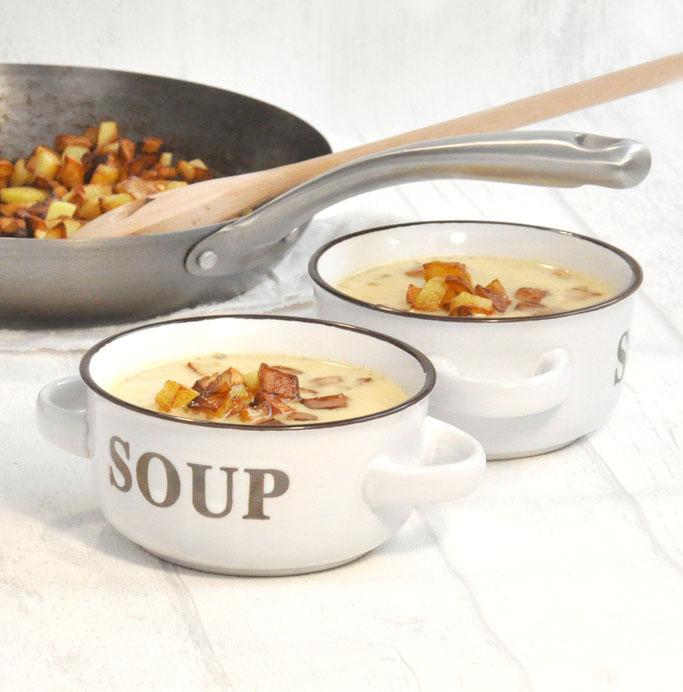 Bratkartoffel Suppe aus dem Thermomix vegan möglich, super lecker