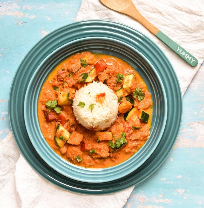 Gemüse Curry à la Tikka Masala, vegetarisch, vegan, Thermomix