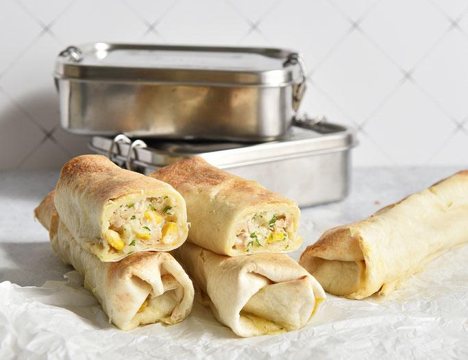 Tortilla Wraps Hähnchen Mais Schul Snack