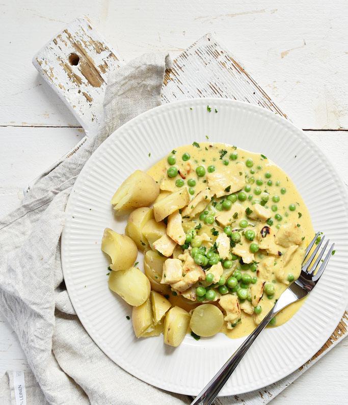 Erbsen Geschnetzeltes mit Kartoffeln Thermomix