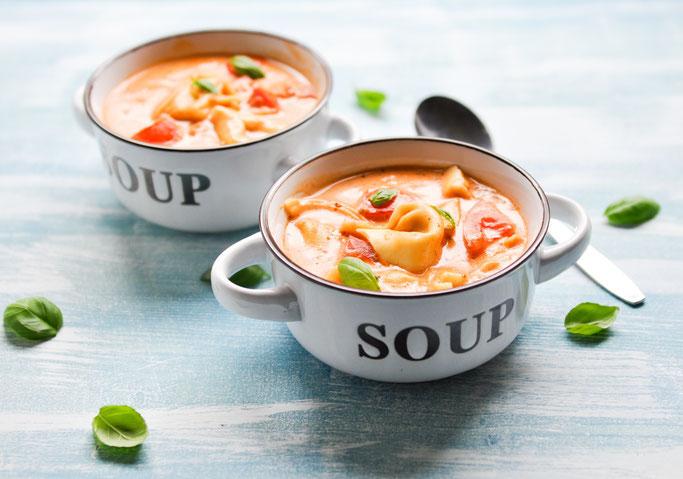 Tortellini Tomaten Suppe vegan möglich z.B. aus dem Thermomix