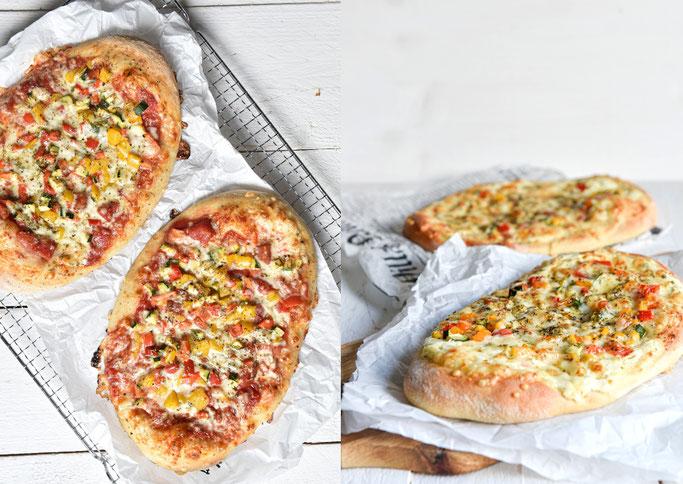 Pizza-Fladen mit Schmand oder Tomatensoße