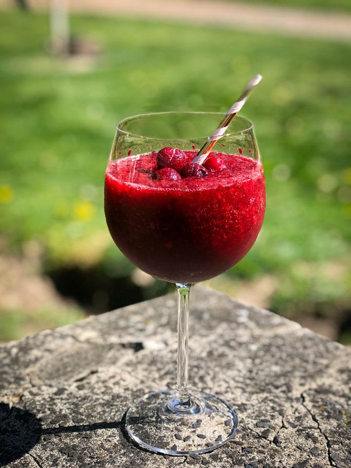 Cherry Coke Slushie mit Rum oder ohne Alkohol, Thermomix