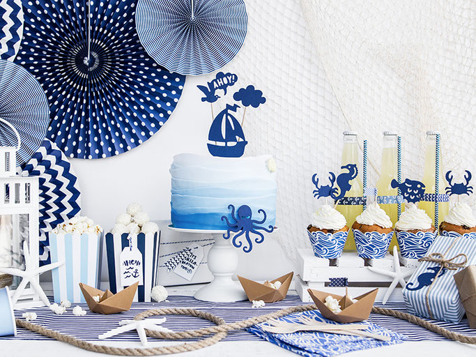 maritime deko#sommerparties blauweiß#kunterbunt#wunstorf