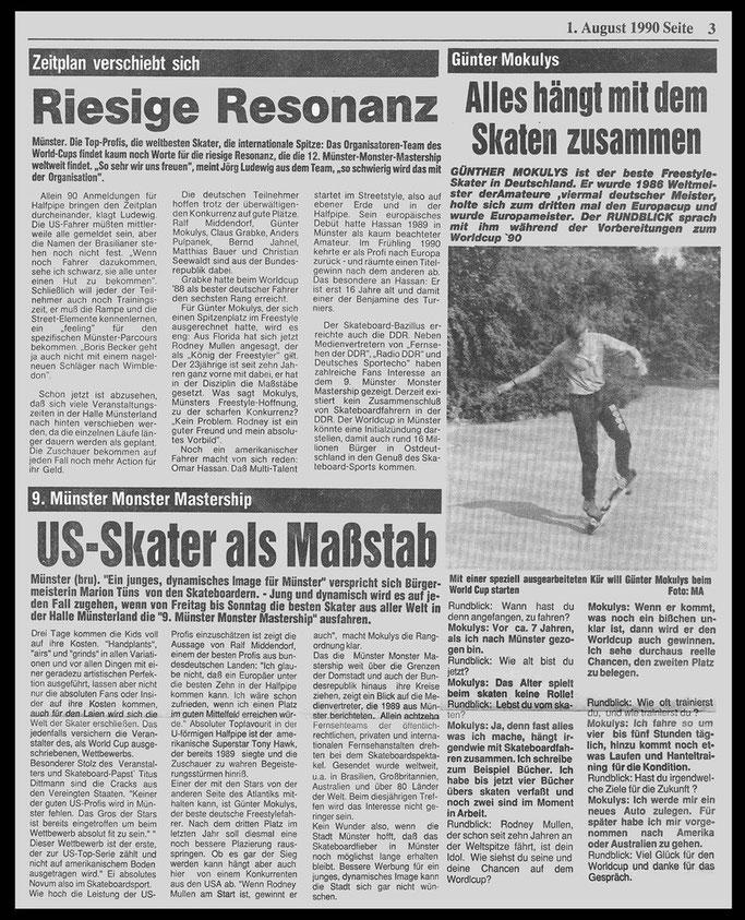 Münster Zeitung 1990