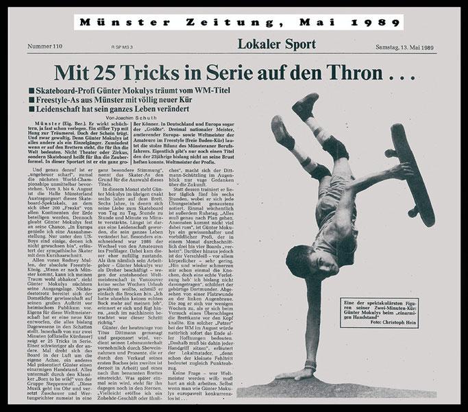 Münster Zeitung 1989