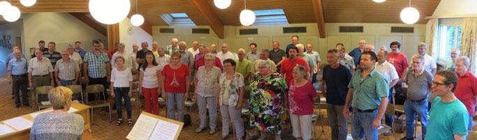 Gemeinsames Singen in Wittnau