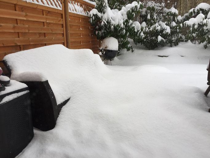 Winter für Winter wieder eine Überraschung: Schnee!