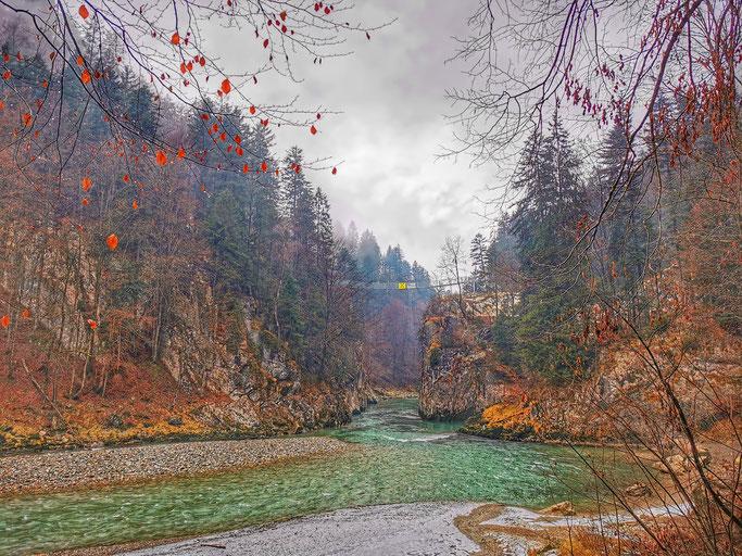 neue Hängebrücke Klobenstein Tiroler Ache