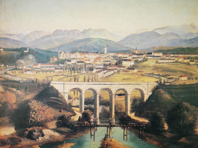 Viadukt Traunstein historisch
