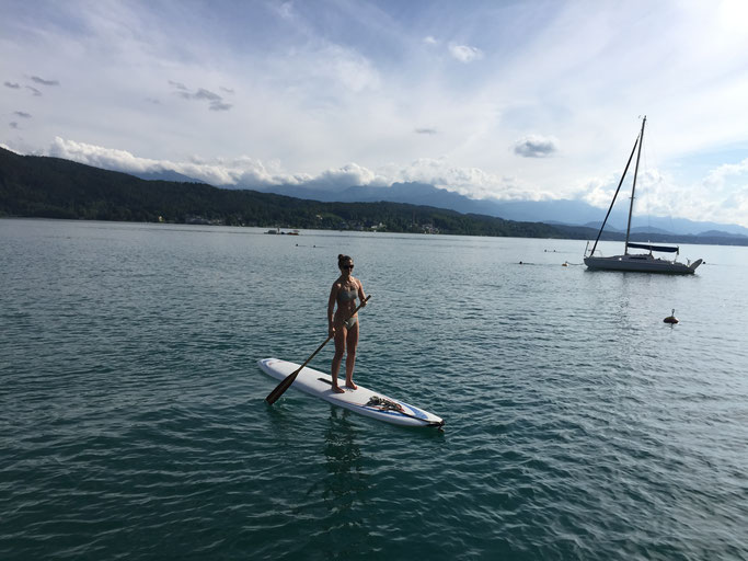 SUP - Stand up paddling am Wörthersee
