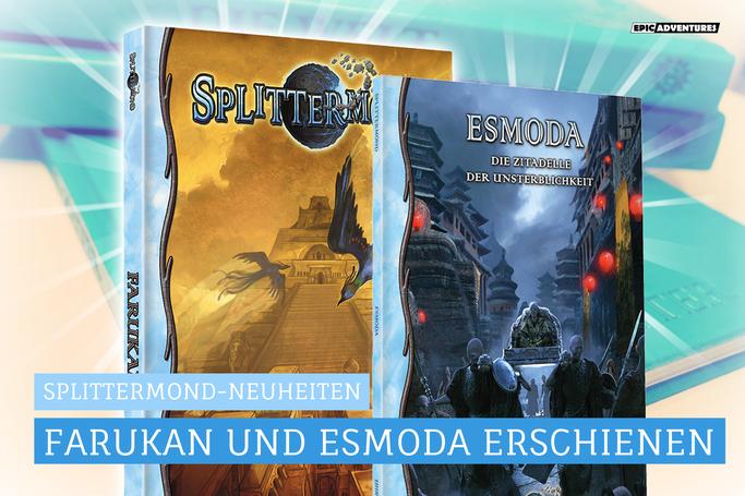 Splittermond News: Farukan - Unter dem Pfauenthron, Esmoda Release