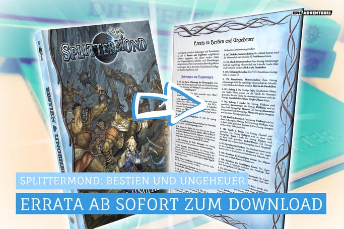 Splittermond: Bestien und Ungeheuer Errata veröffentlicht