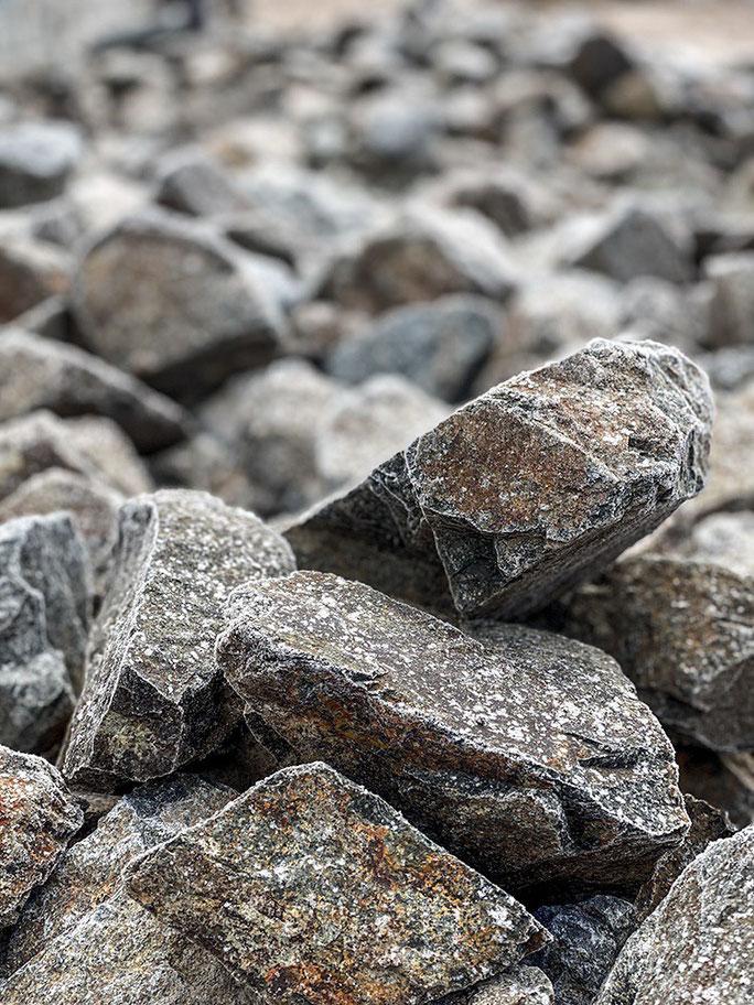 石積みのあるお庭
