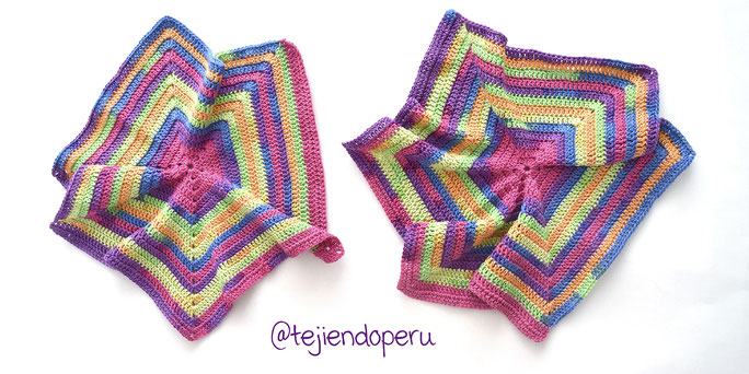 chaqueta crochet mujer con hexagono