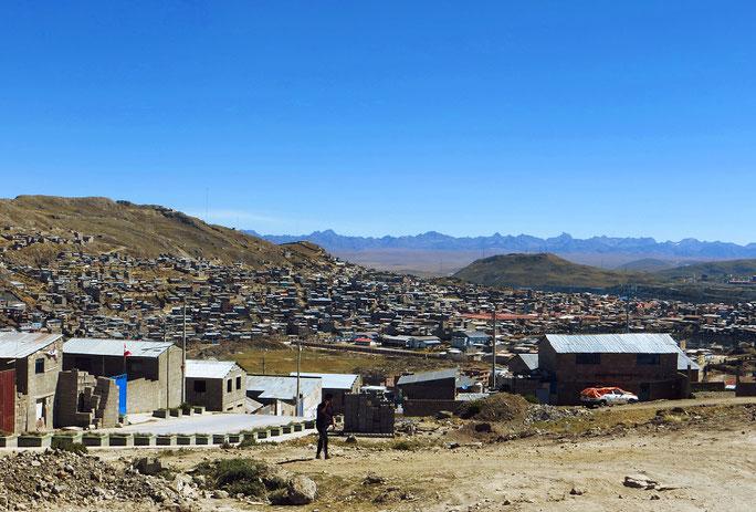 Cerro de Pasco, eine der höchstgelegenen Städte der Welt.