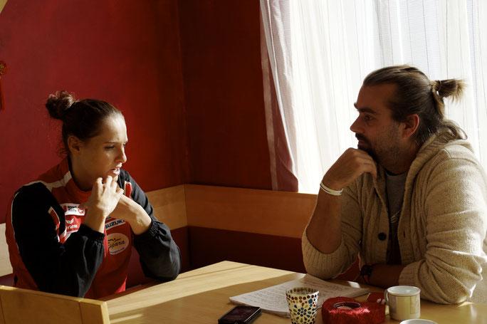 Alisa Buchinger mit Regionalsport-Herausgeber, Erwin Hofbauer, im Gespräch @Regionalsport.at