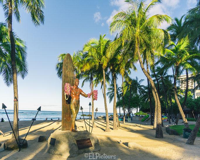 Waikiki, Duke Kahanamoku, Honolulu, Oahu, Hawaii