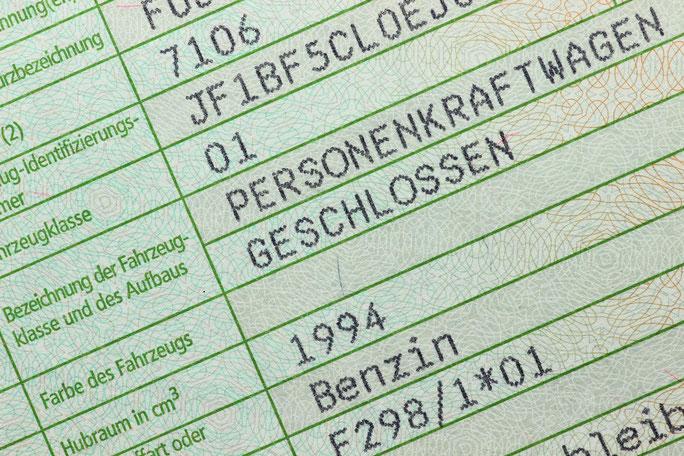Fahrzeugbrief; Detektei Bochum, Detektiv Bochum, Privatdetektiv Bochum