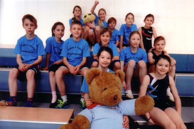 Die Turnmannschaft der Grundschule Breckenheim