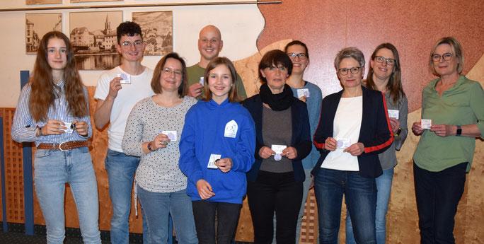 v.l.n.r.:Henrike Altmann, Leon Bettenhausen, Tanja Glaser, Elias Apel, Marlene Altmann, Angelika Wilk, Maren Wöbber, Andrea Lehn, Sonja Langheld und Maria Riemenschneider.