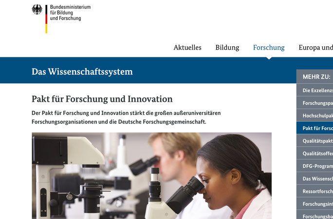 Foto: Screenshot der BMBF-Website