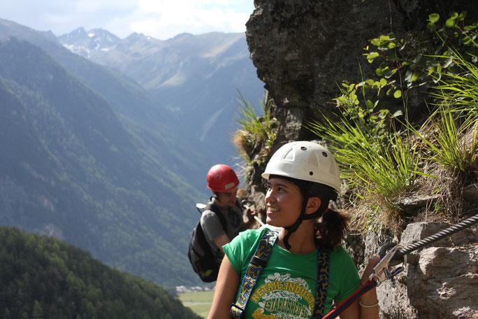 Am Stuibenfall Klettersteig im Ötztal