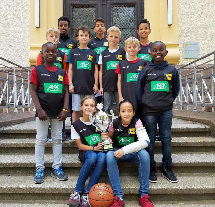 Das Siegerteam Ludwigsburger Basketball-Grundschulliga
