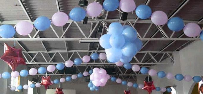 arreglo de globos bipolo o linking balloons