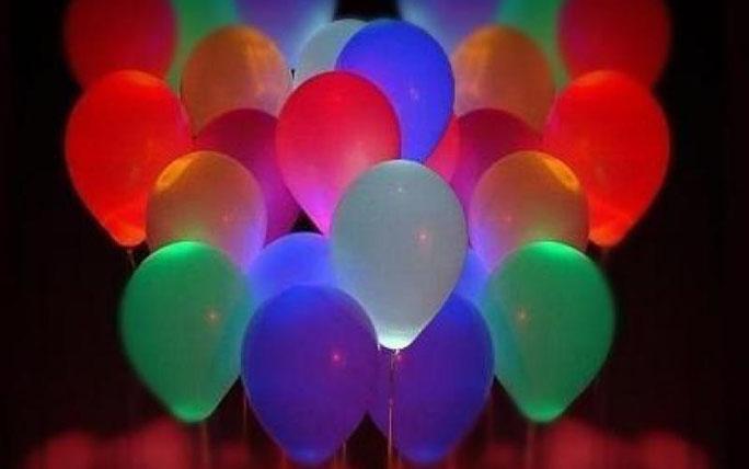 como hacer globos con luz