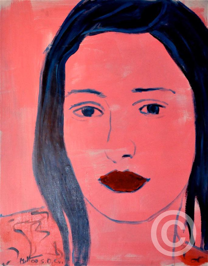 Monika/ Acryl auf Leinwand/ 80 cm x 100 cm