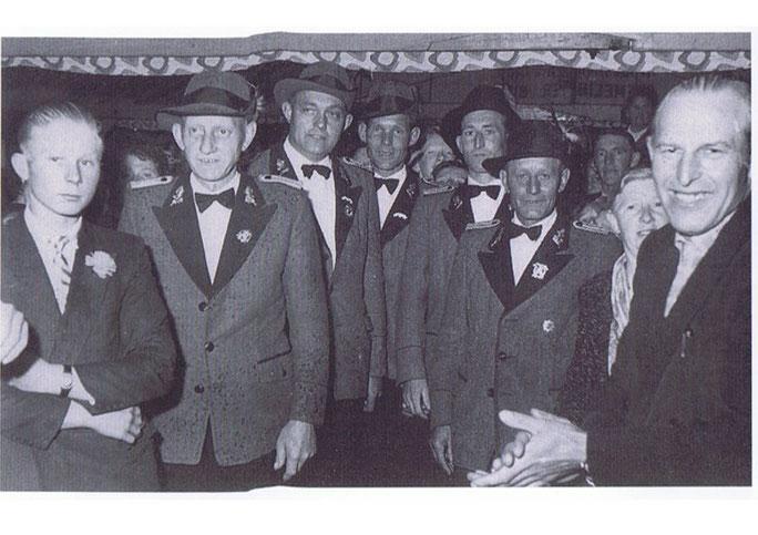 Vorstand des Schützenvereines Mitte der 50iger Jahre