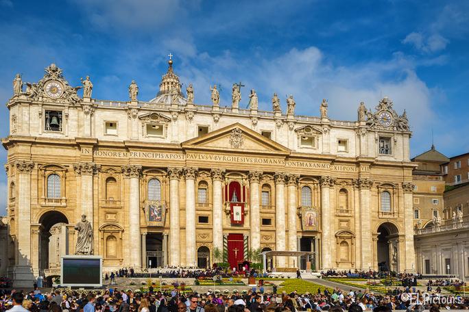 Ostermesse im Vatikan, Rom Italien