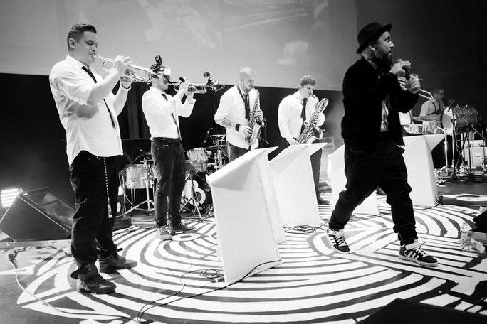 DIZZY BOYZ BRASS BAND - La Brass Banda Sound auf dem Brass & Blasmusikfestival Seepark Pfullendorf 15.-17. Juni 2018