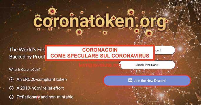 Come investire nel CoronaCoin e speculare sul CoronaVirus [2020]