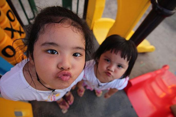 タイ人、子供、少女、