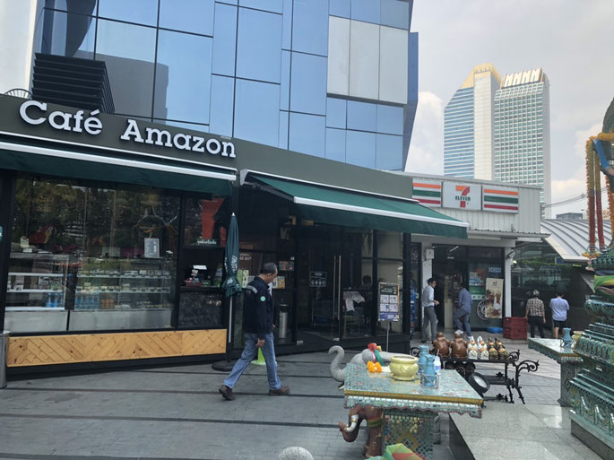RS Tower、セブンイレブン、Cafe Amazon、タイ在住支援法律事務所
