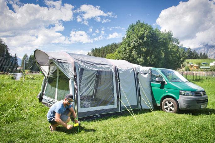 Luftvorzelt für den VW Bus