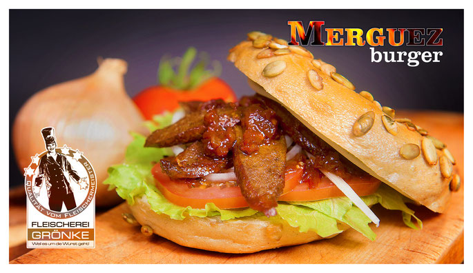 Der leckere Merguez-Bagel-Burger
