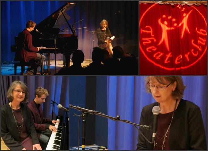 """Auftritt """"Zeilenklang"""" - Aurelia L. Porter + Maximilian J. Zemke - im Theaterclub Hamburg"""
