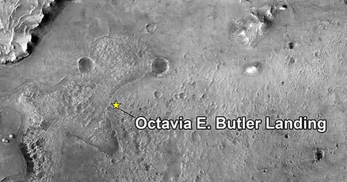 Lloc d'aterratge del ròver Perseverance a Marta, batejat en honor a Octavia E. Butler