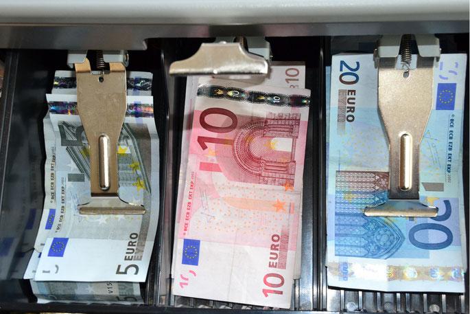 Kasse mit Euros; Detektiv Rostock, Wirtschaftsdetektiv Mecklenburg-Vorpommern
