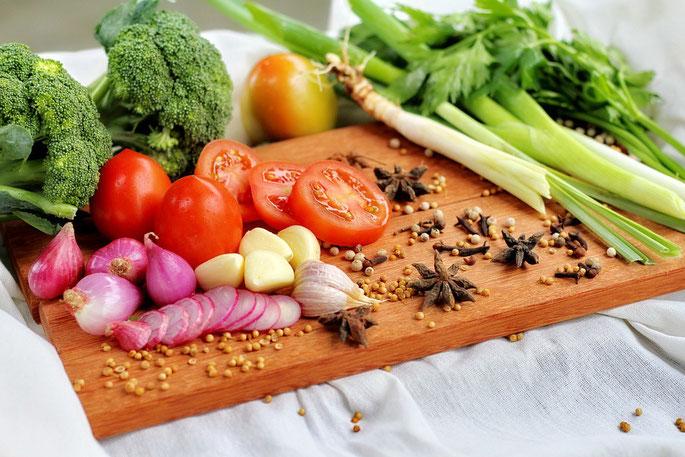 Gemüse frisch zu bereitet - immer mit den entsprechdenden Gewürzen