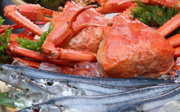 秋刀魚と紅ずわい蟹