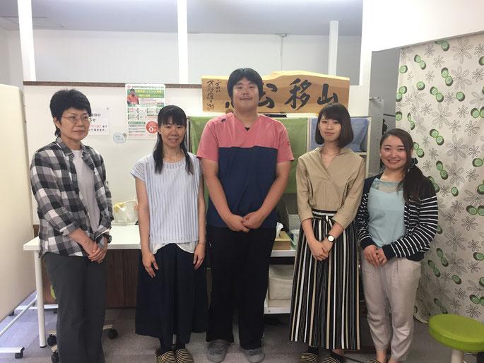 松山市骨盤矯正専門あさひ整体院に、広島県から先生たちが見学に来られました。