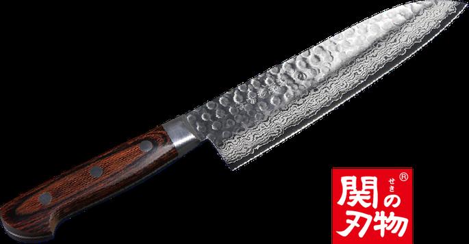 ダマスカス三徳 180mm/関の刃物
