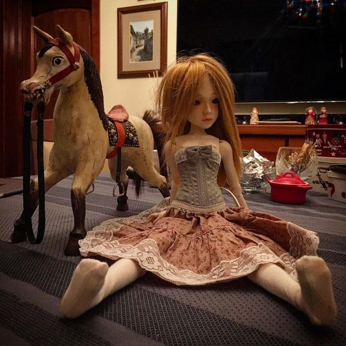 BJD, шарнирная кукла, Императорская лошадка