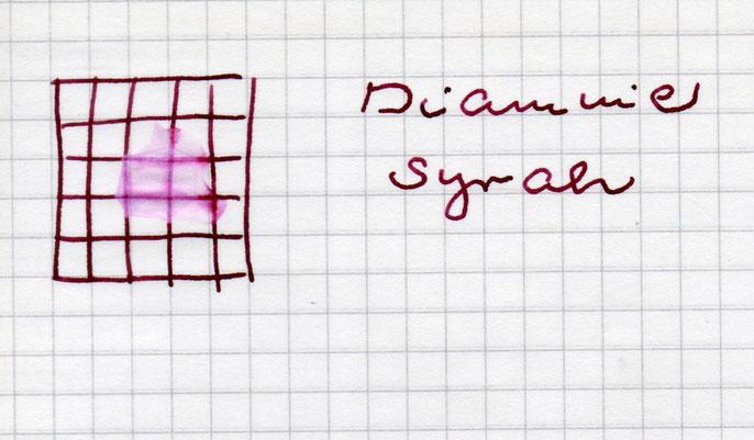 Wassertest: Ein leichter Pink-Ton bleibt zurück.